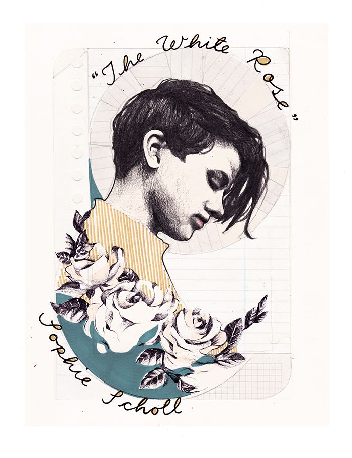 Activist Sophie Scholl, illustrated by Hannah Sunny Whaler for Oh…