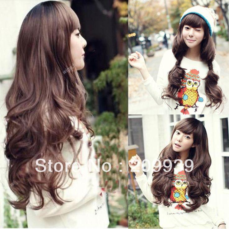 Кк 0074 Женщин Девушки Прекрасный Стиль Волнистые парик Длинные Волосы Полный Парики