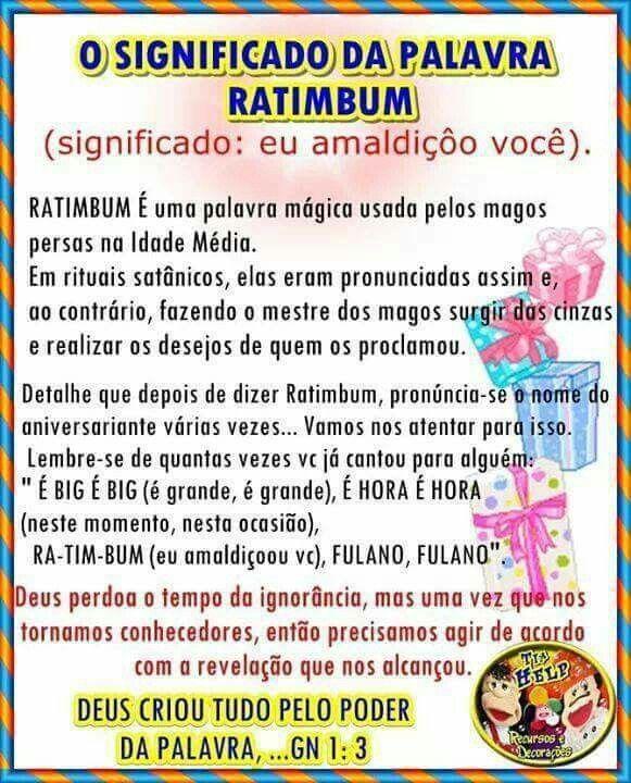 o significado da palavra ratimbum