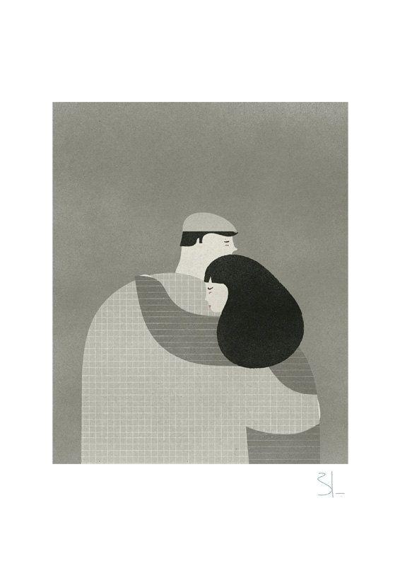 El abrazo print by blancucha on Etsy