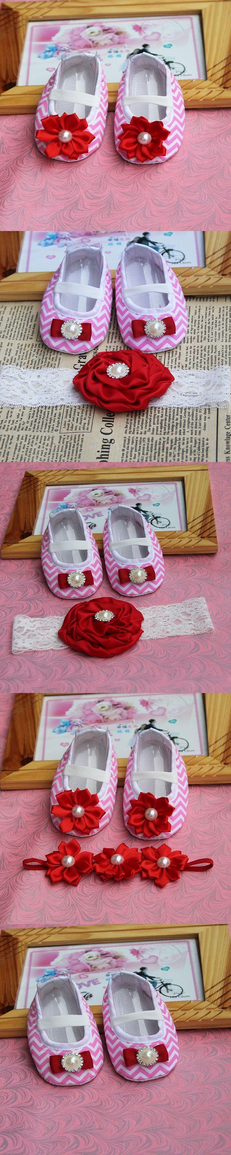 Flower Girl Shoe Toddler Headband,flower girl ballet shoes,baptism newborn baby girl shoes,footwear girl