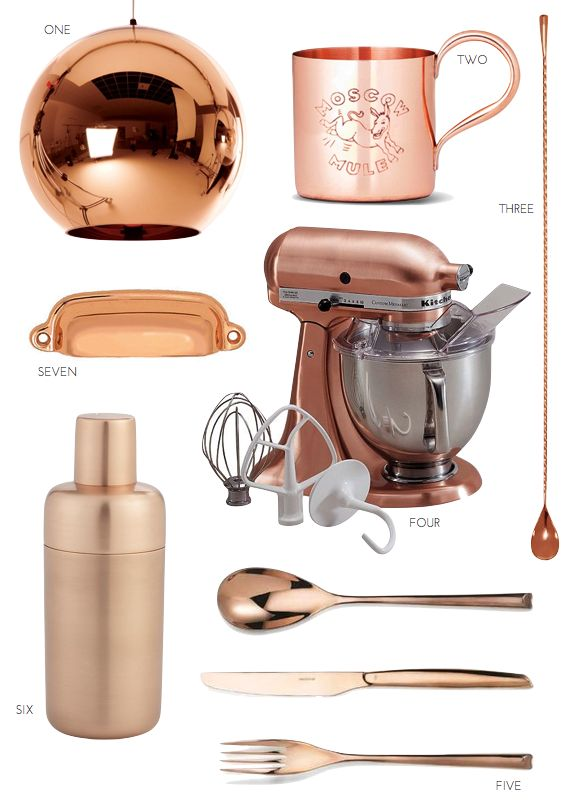 The Copper Kitchen Trend: does this mean I'm getting old, that I am pinning copper kitchen tools?