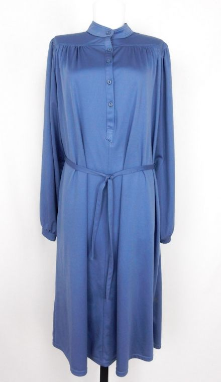 Vintage Loose Blue Mao Dress