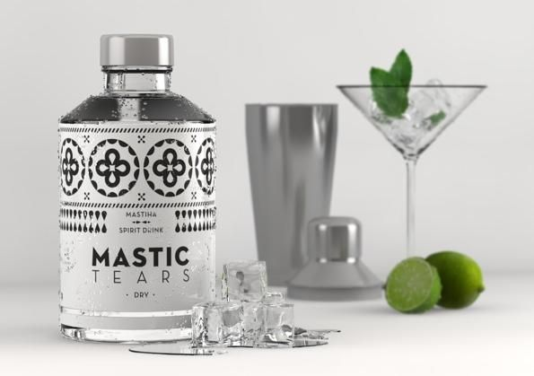Mastic Tears Dry with mint and lime.