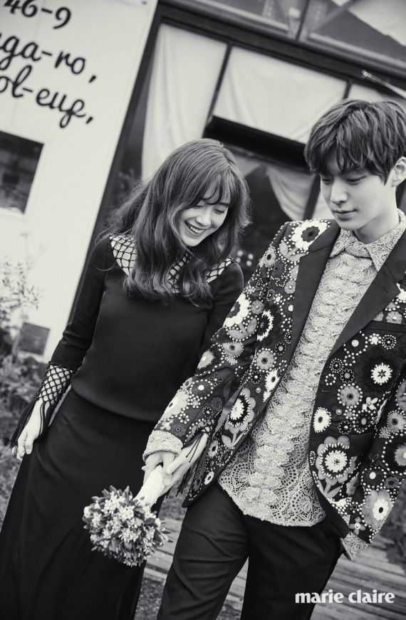 8 Magical photos from Gu Hye Sung and Ahn Jae Hyun's Jeju Island wedding pictorial