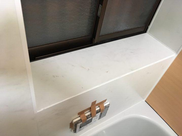 浴室タイル壁にバスパネル アルパレージ をdiyで貼り付け施工する