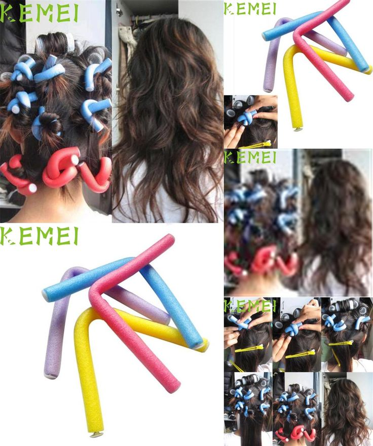 [Visit to Buy] Dropshipping  10PCS Curler Makers Soft Foam Bendy Twist Curls DIY Styling Hair Rollers high quality Mar10 #Advertisement