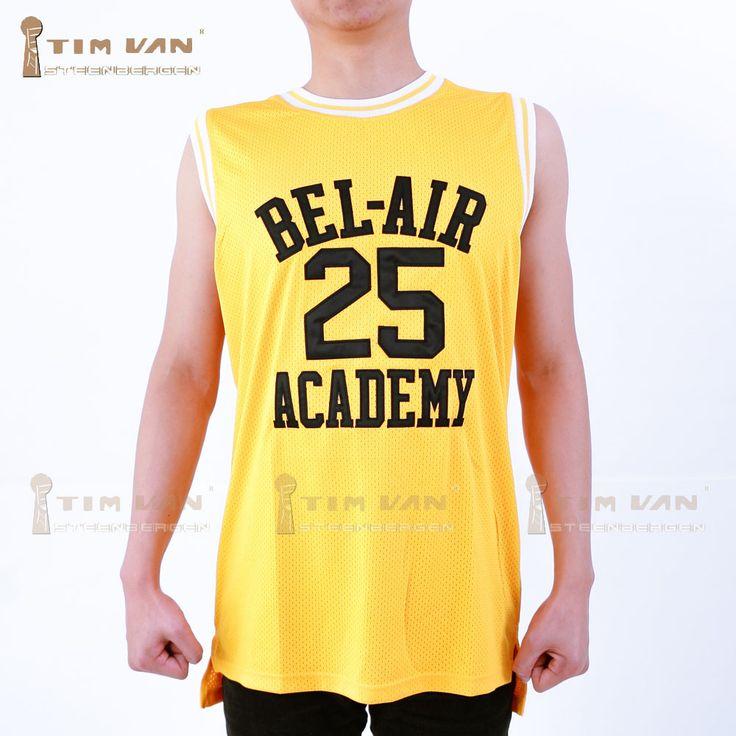 TIM BESTELWAGEN STEENBERGE Banken 25 Goede Kwaliteit Basketbal Jersey Stithed Genaaid-Geel