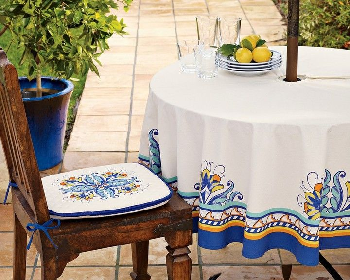Williams Sonoma Mediterranean Patio Tablecloths On Style