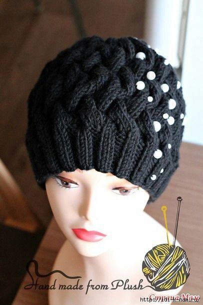 Женская шапочка, связанная аранским узором. Обсуждение на LiveInternet - Российский Сервис Онлайн-Дневников