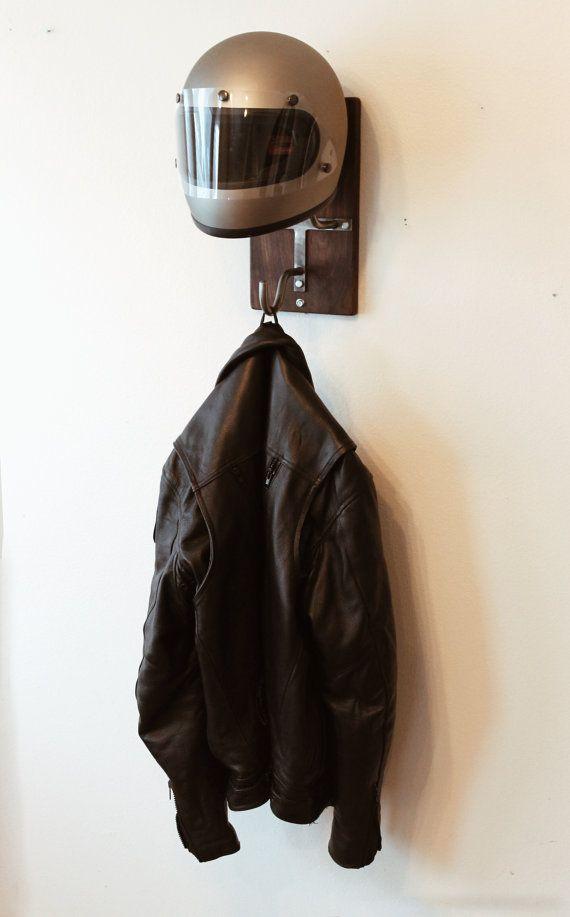 Handmade Motorcycle Helmet Rack & Jacket Hook by EdwardRichie