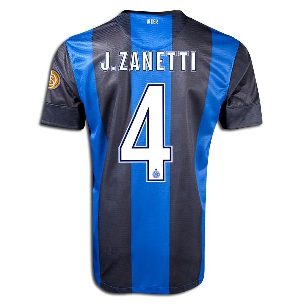 Javier Zanetti Inter Milan Home Jersey 12/13 Xl