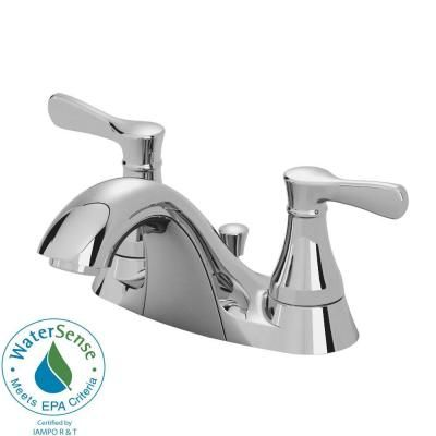 American Standard Alejandra 4 in. 2-Handle Low Arc Bathroom Faucet in Polished Chrome-7484F at The Home Depot
