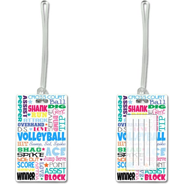 Volleyball Terms Luggage Tag