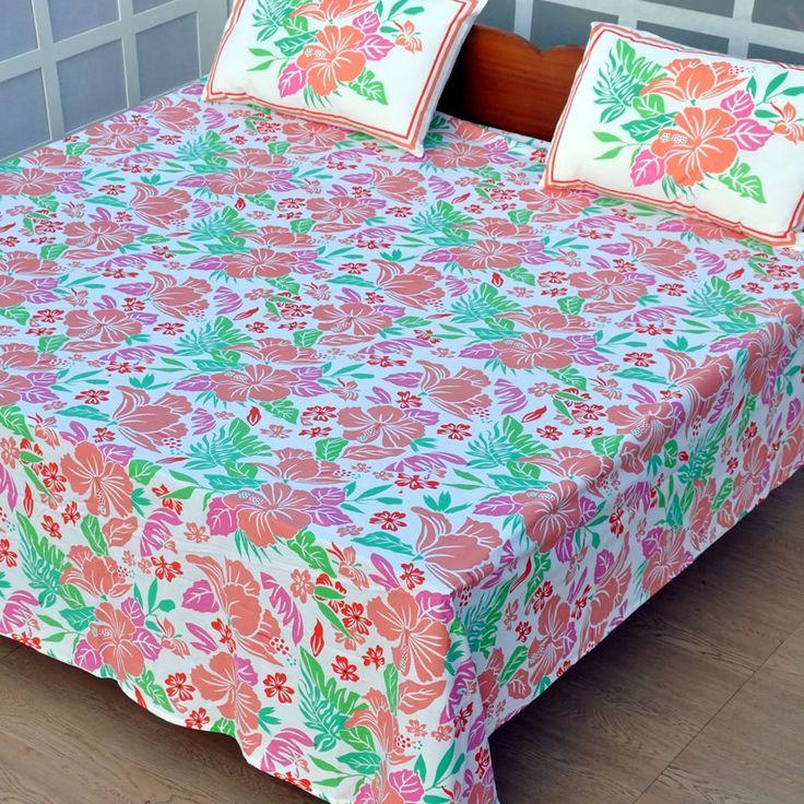 Flowery Bedsheet - Bedding - Sale
