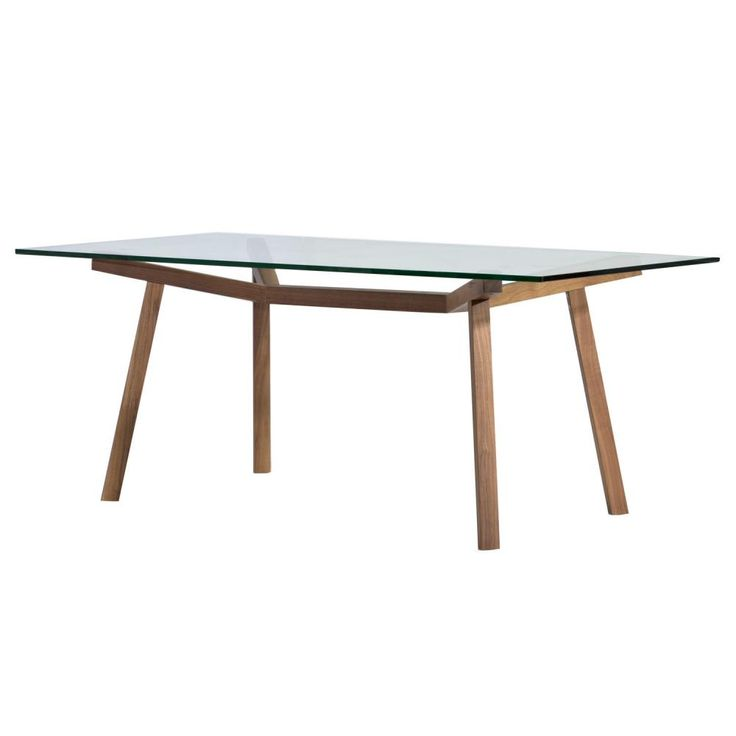 Sean Dix Forte Rectangular Glass Dining Table | Clickon Furniture | Designer Modern Classic Furniture