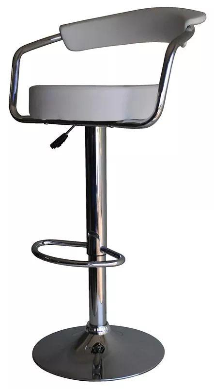 banqueta alta estofada giratória boston com regulagem altura