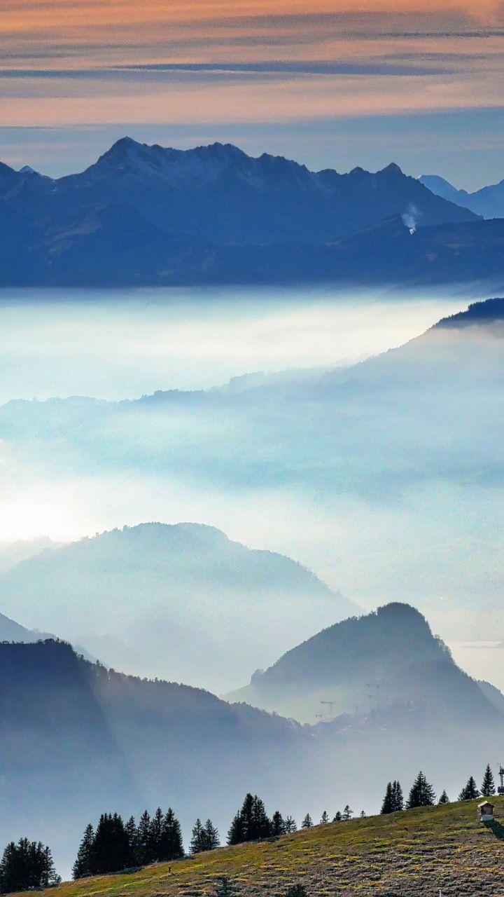 Mist Landscape Fog Mountains Horizon Nature 720x1280 Wallpaper Paisajes Naturaleza Fotografia