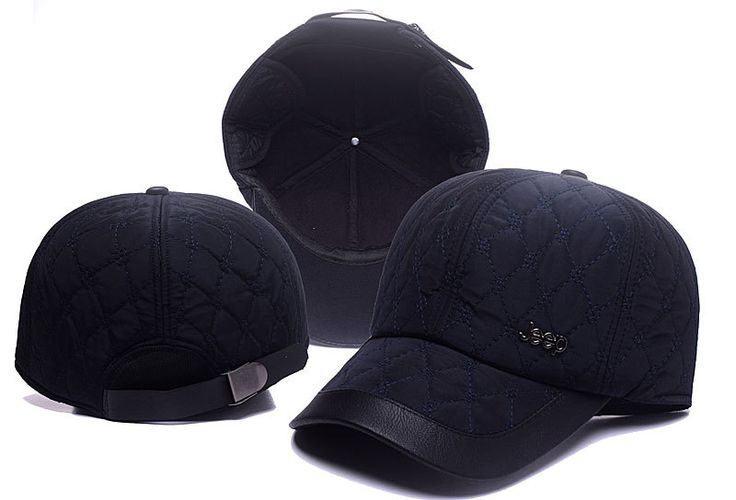 Men's / Women's Jeep Iconic Metallic Logo Leather Closure Cotton Curved Adjustable Hat - Navy