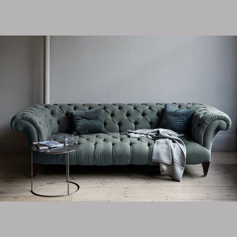 Perfect color. Perfect quilts. Perfect shape. If it's comfy too, it could be the perfect sofa. #sofa