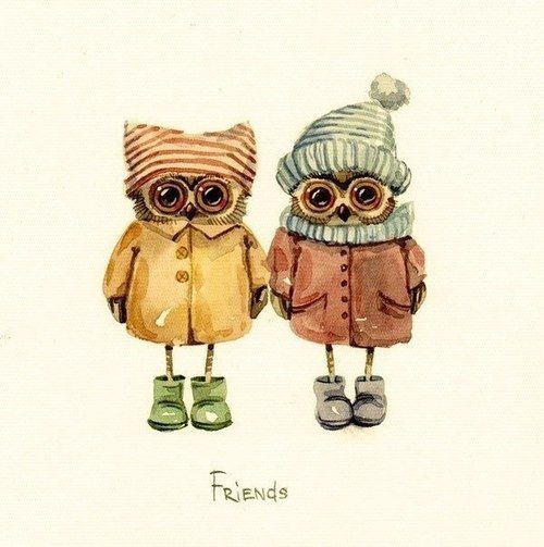 #owl #owls #illustrations - so very very cute....