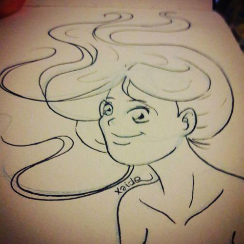 Sketchando… #sketchbook #sketch #schizzo #scarabocchio #disegno #draw #drawing #drawings #sketching #girl #ragazza #sexy #nek #hair #capelli #aria #vento #pennarello #biancoenero #lineart