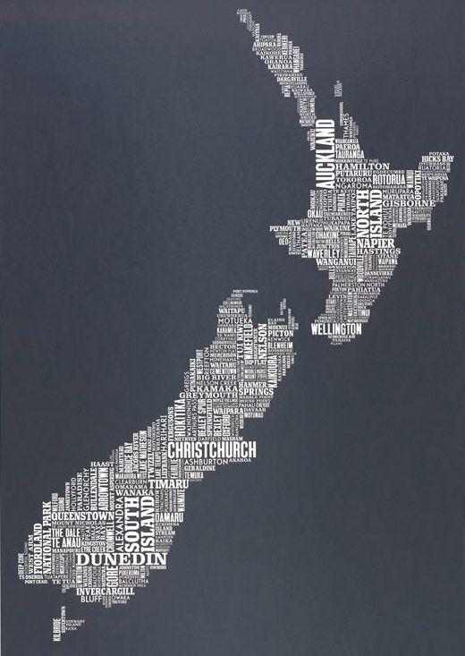 Coolest new Zealand map!