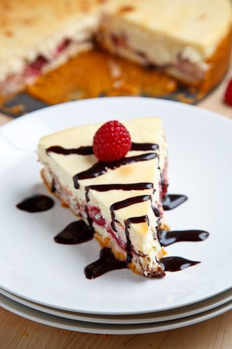 Raspberry and Dark Chocolate Cheesecake