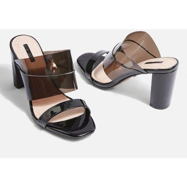 Topshop Raquel Chain Perspex Heel Mules