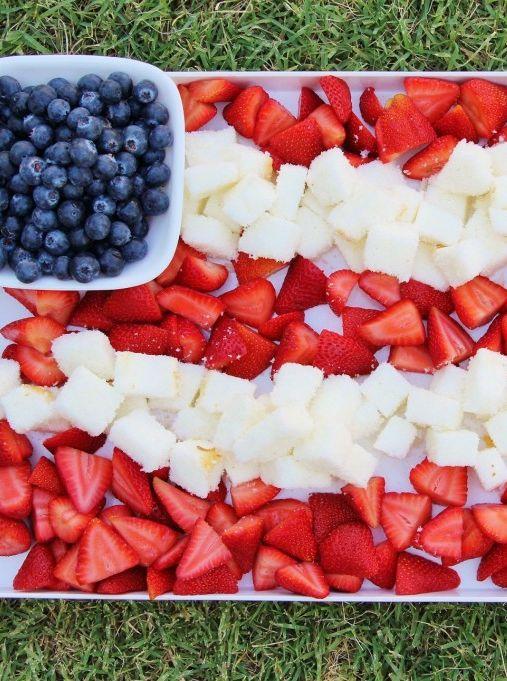 Patriotic Berry Cake Dessert Platter