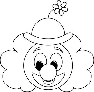 * Clown Coloring Pages