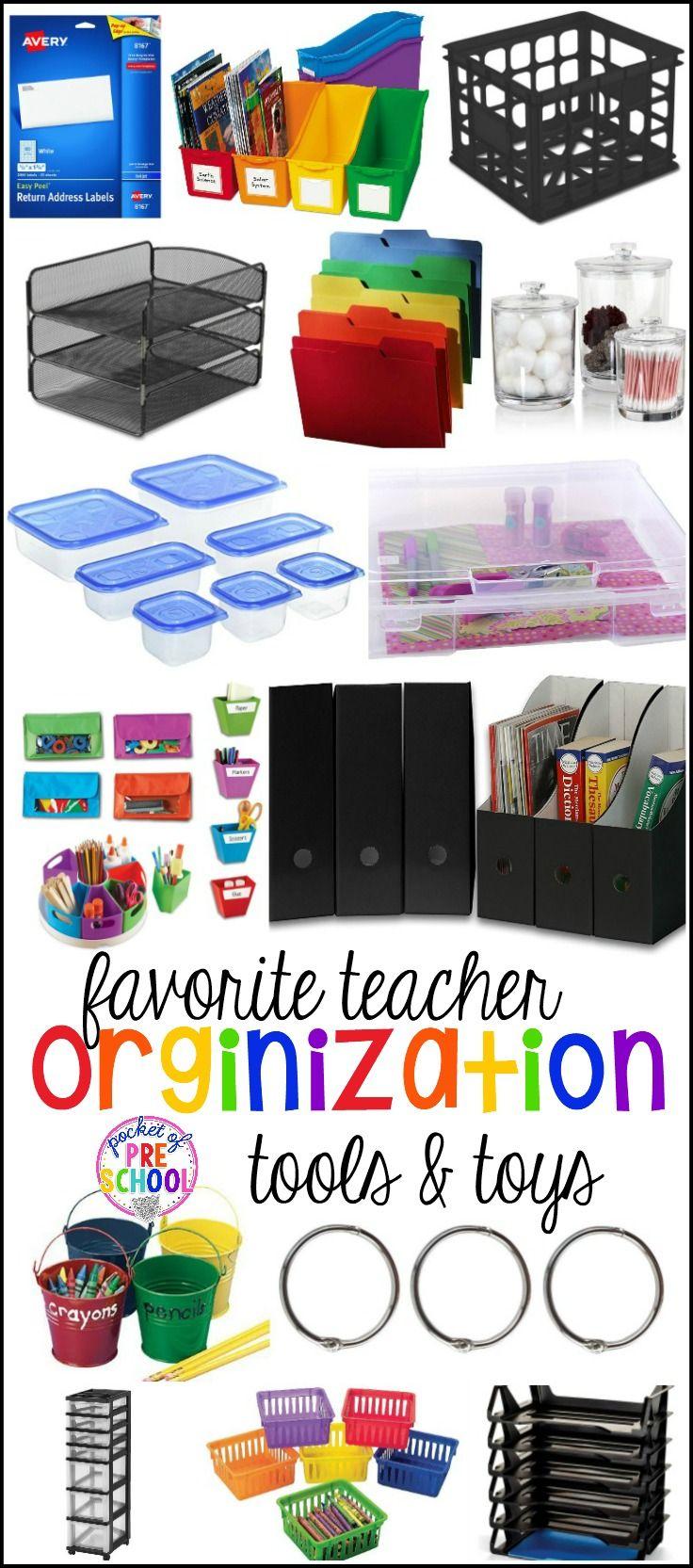 Favorite Teacher Organization Tools and Toys for Preschool and Kindergarten - Pocket of Preschool