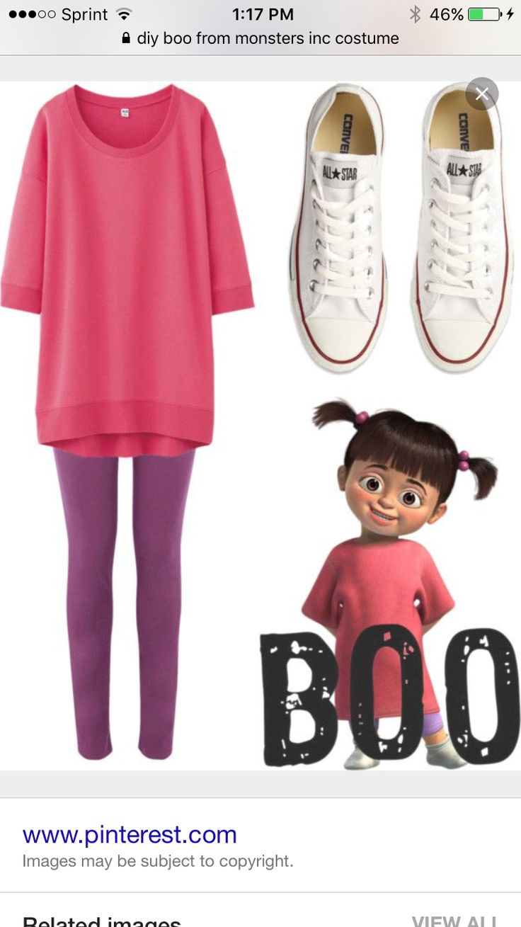 monsters inc boo costume idea - Easy Homemade Halloween Costumes Teens