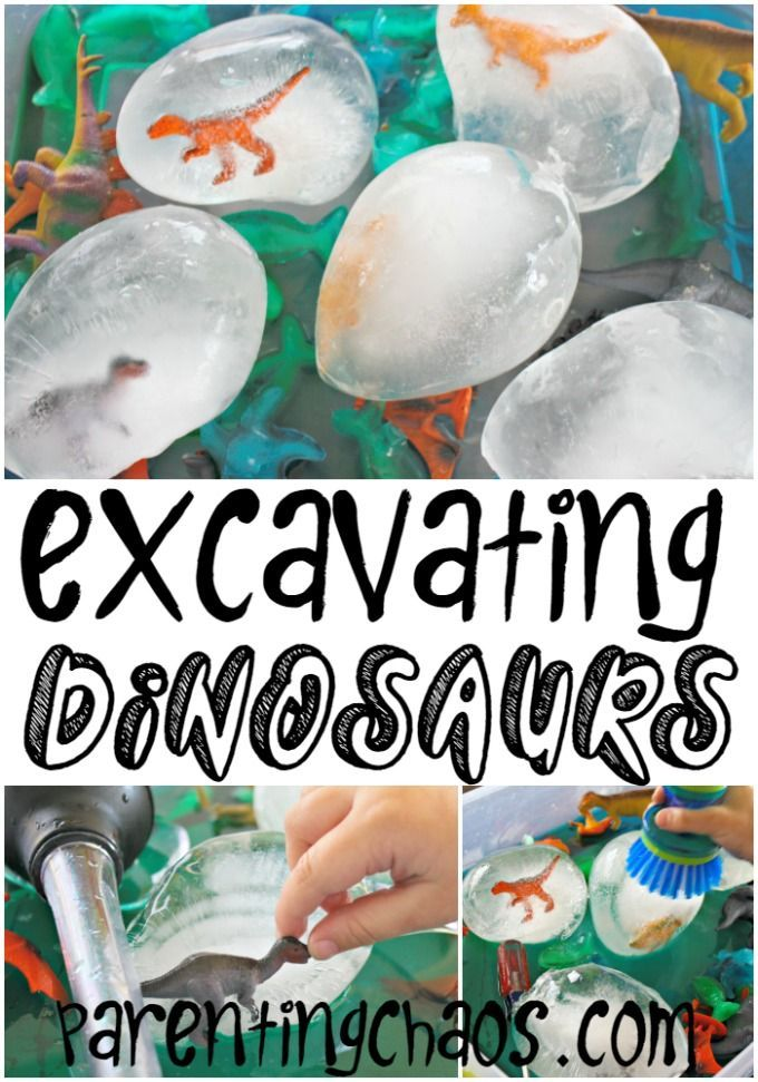 Excavating Dinosaurs from Ice - can you find a dinosaur?