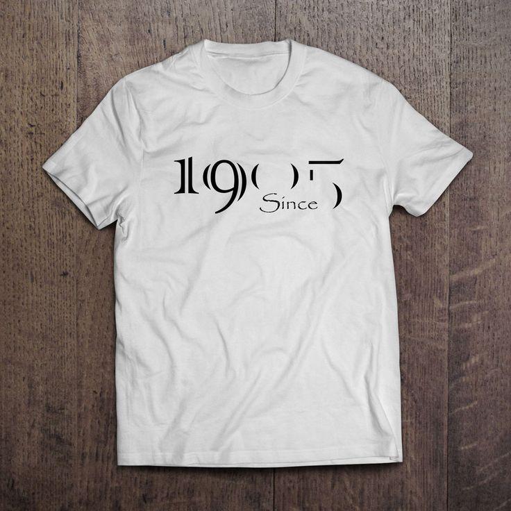 Beyaz Üzerine Dijital Baskı 1905 Since T-Shirt 29,99TL