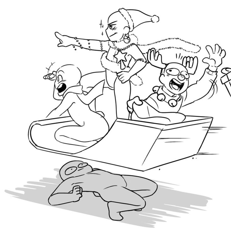 [Draw The Squad] Dodging Incoming Hype Sleigh by MohdRiddle