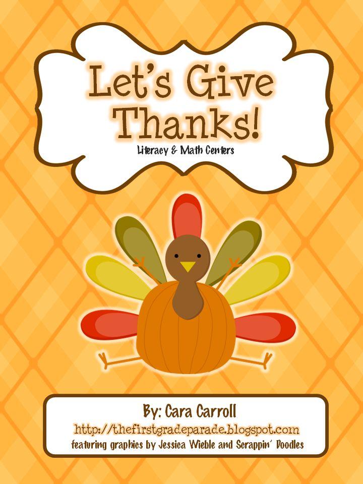 Thanksgiving Math & Literacy Centers