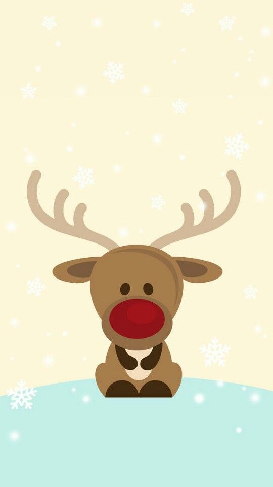 IPhone Wall Rudolph Tjn CartoonWallpaper BackgroundsIphone WallpapersPhone BackgroundsChristmas Wallpaper Iphone CuteChristmas