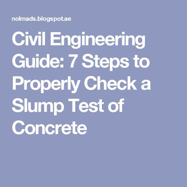 Civil Engineering Guide 7 Steps to Properly Check a Slump Test of - packaging engineer sample resume