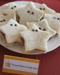 Toddler Food Ideas, Peanut butter jelly sandwiches or honey, take cookie cutter and into shapes! dinosaurs!