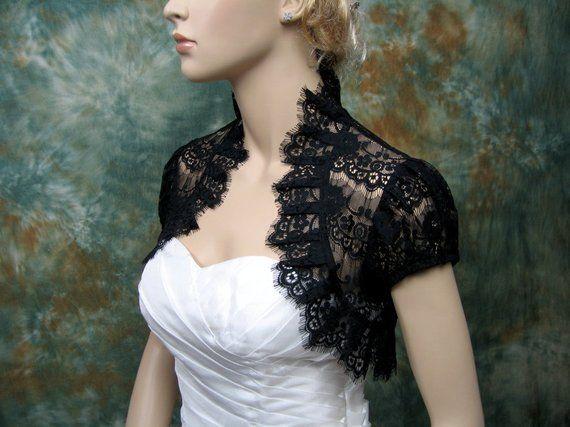 lace bolero, lace shrug, wedding bolero, ivory bolero, bridal shrug, wedding jacket, bolero jacket, 3
