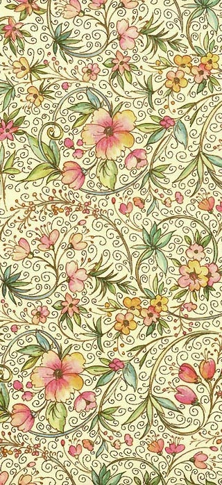 Christmas floral paper from Italy