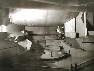 Scharoun's large architecture model, Berlin Philharmonie