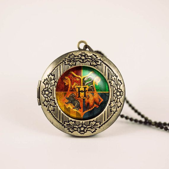 Hogwarts crest Harry Potter vintage pendant locket necklace - ready for gifting - buy 3 get 4th one free