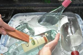 Rather than throw away old glass bottles, here are 11 ways to reuse them around the house