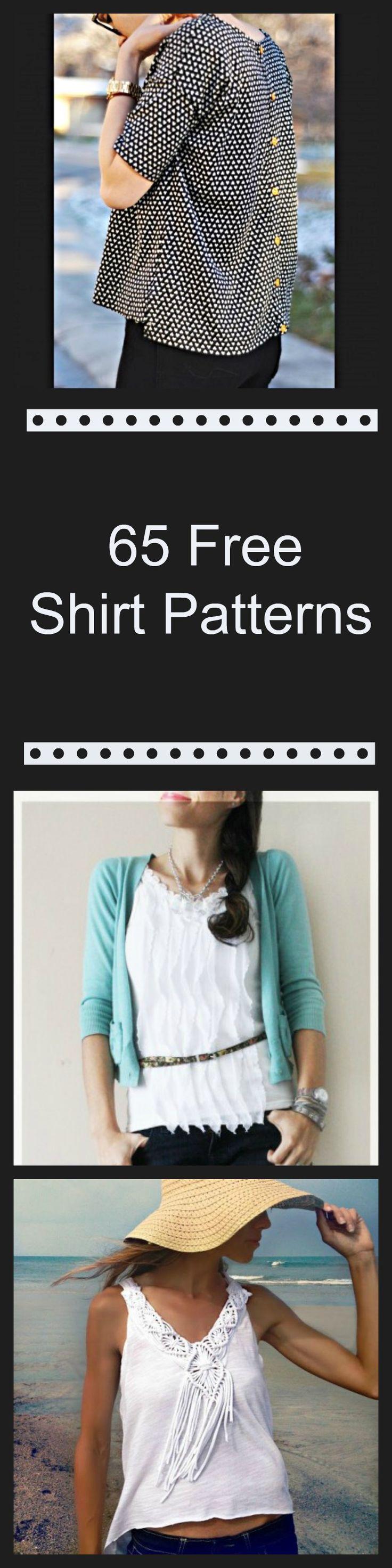 65 Free Shirt Patterns                                                                                                                                                     Más