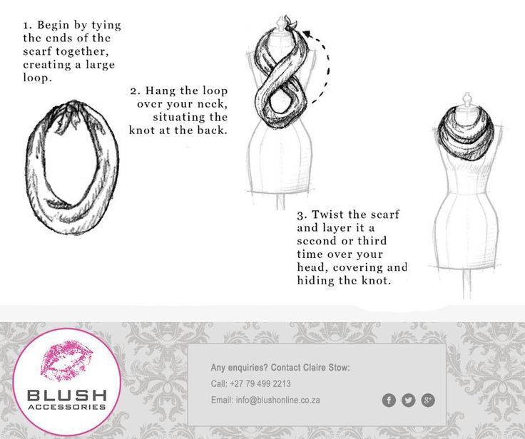 Don't have an infinity scarf? Easily create your own with a regular scarf. Remember to pop into your nearest Blush store for our fabulous scarves instore! #blush #scarftip #scarves