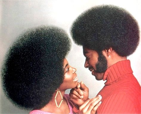 The afro as a symbol of Black Power in the 1960s was not only a popular way to signify pride in the African American ethnicity and the natural hair that many were born with.  It also represented an interesting way into gender equality, because this hairstyle could be worn by either man or woman freely.