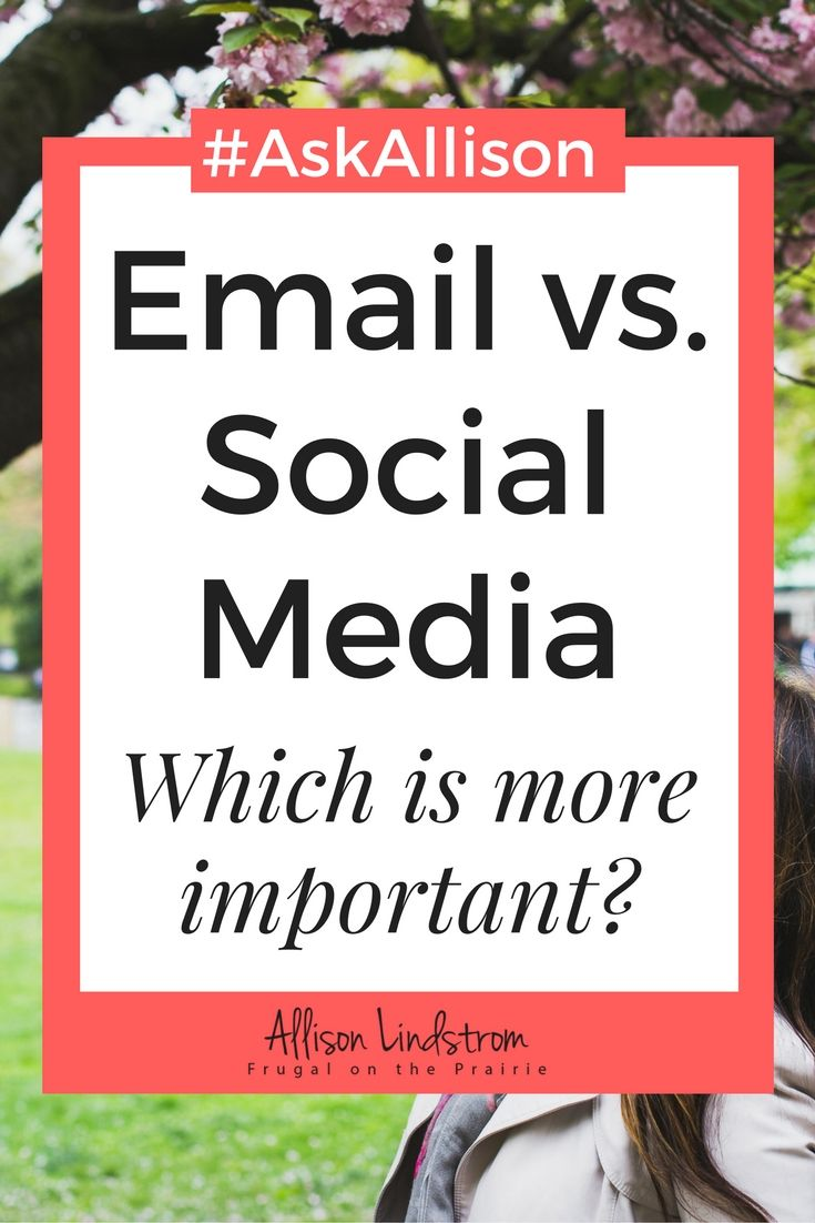 I'm talking about the infamous battle between email marketing and social media for growing your blog! Which one is better?
