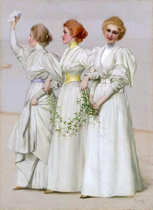 "Vittorio Matteo Corcos (1859-1933) ""Le tre sorelle"""